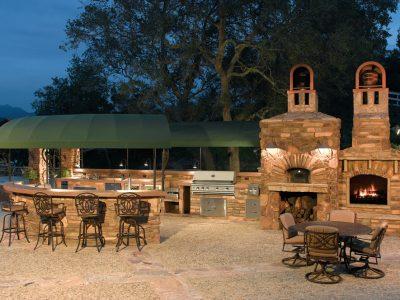 Custom-Summerset-Barbecue-Island-Outdoor-Kitchen-Area