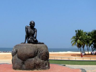 Mahatma Gandhi Statue at Malpe Beach