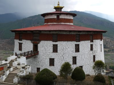 Ta-Dzong, the old watch tower, converted as the national museum.